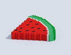3D model VOXEL WATERMELON