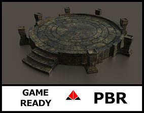 Ancient altar 3D asset