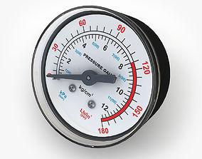 Pressure gauge 02 3D model