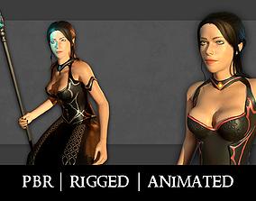 3D model Fantasy mage - Female hero