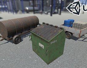 3D asset PBR Countryside Props