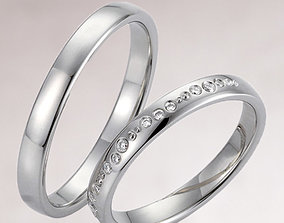 Wedding rings 227 3D printable model