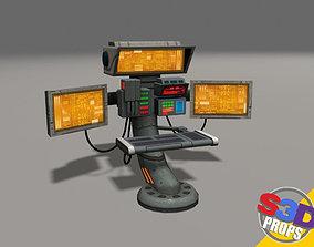 3D Scifi control panel2