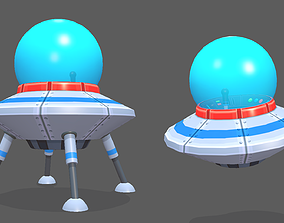 Spaceship Flying Saucer Animated 3D model