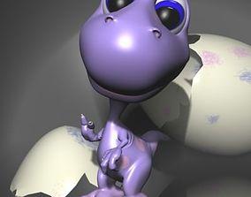 Baby dino cartoon RIGGED 3D