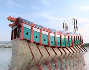 Geobukseon- Turtle ship- Korean armored 3D asset