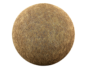 3D model game-ready Clean Hay Tile Material
