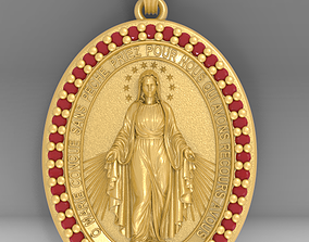 weed Mary pendant 3D print model