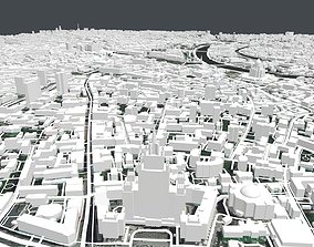 Cityscape Moscow The First Garden Ring 3D model