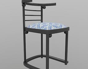 728 Chair Josef Hoffmann Cafe Fledermaus 3D