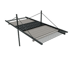 yard Motorized Pergola 1a 3D model