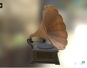 Gramophone Old 3D low-poly