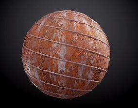 Metal Rusty Dirty Pipe Seamless PBR Texture 3D model
