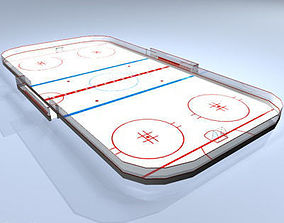3D Hockey field