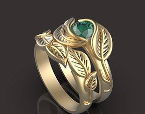 flower ring and back ring 3D print model