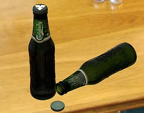 3D Beer bottle Carlsberg 25cl