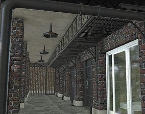 3D asset Low poly Prison Cell Block