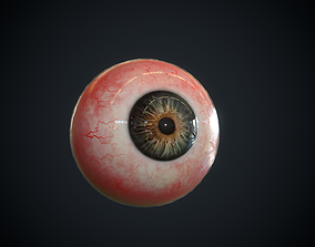 3D model game-ready Realistic Eye