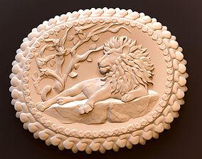 Relief lion 3D print model