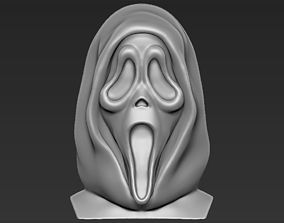 Ghostface from Scream bust 3D printing ready stl obj 1