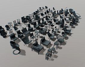furniture - chairs set 01 - part 1 3D model