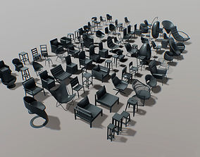 furniture - chairs set 01 - part 1 3D model
