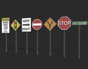 Road Signs 3d 3D