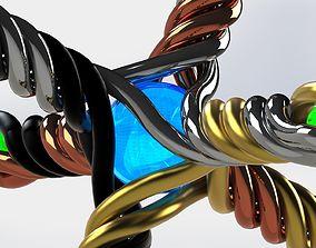 3D printable model Helix Jack Sculpture