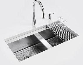 Under-mount kitchen sink 8 Degree 3D