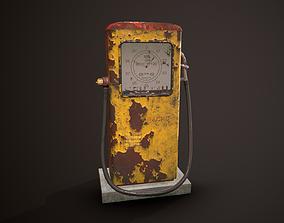 Game-Ready Soviet Gasoline Pump 3D asset