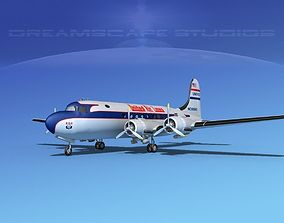 Douglas DC-4 United Airlines 1 3D model