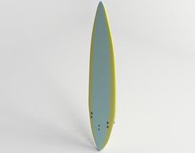 3D model Gun Surfboard