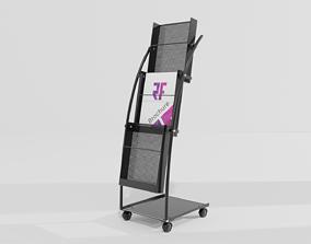 Journal Brochure Leaflet Flyer Magazine Folding 3D asset 1