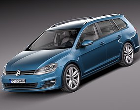 3D model Volkswagen Golf Variant 2014