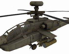 3D asset game-ready AH-64 Apache