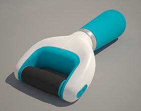Nail file for pedicure toe 3D