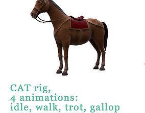 Animated horses 3D model