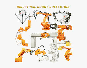 Industrial Robots Collection 3D model rigged