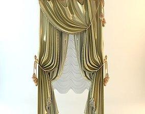 Elegant Baroque Curtains 3D model