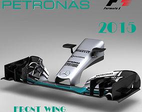 3D asset Mercedes W06 Front wing