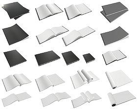 3D album notebook magazine book hardcover blank pack