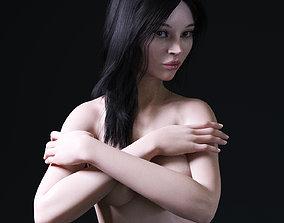 European woman rigged 3D