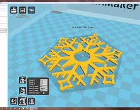3D printable model ornament Snowflake