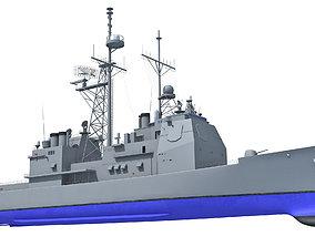 3D USS Port Royal Missile Cruiser