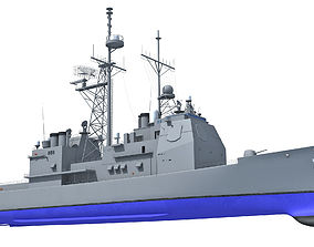 3D USS Port Royal Missile Cruiser