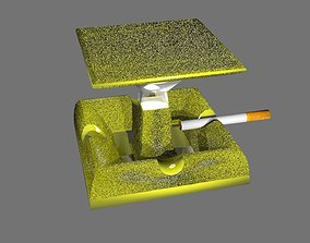 Ashtray lamp premium class 3D model low-poly