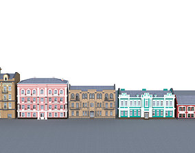 3D model game-ready Classical east european houses pack 01