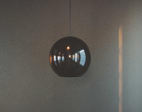 Black Globe Pendant Light metal 3D