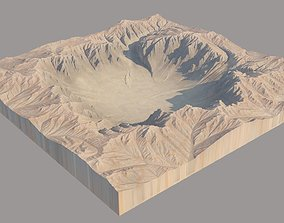 3D model Big Crater Hole Mountains meteor