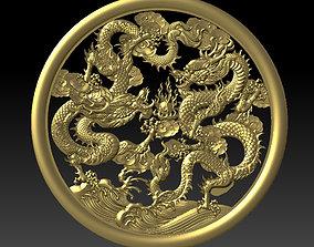 3D print model Two Dragons